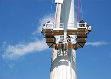 Suspended Scaffolding at Wind Turbine